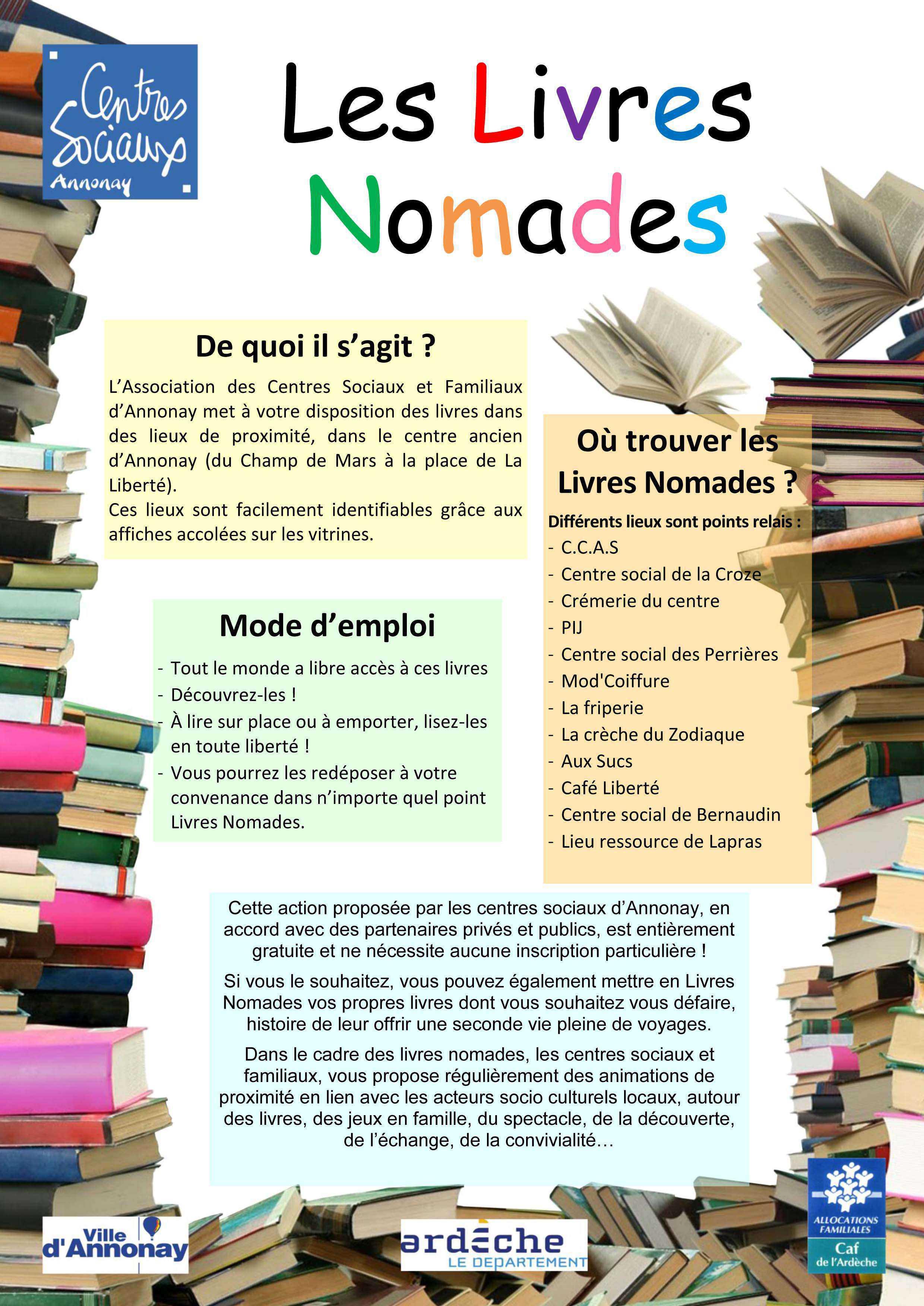 Affiche livres Nomades